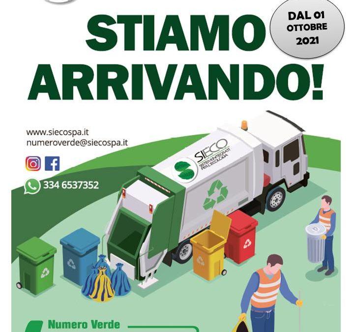 Comune di Triggiano – dal 01 ottobre 2021 Si.Eco S.p.A. è il nuovo gestore del servizio di igiene urbana